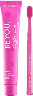 Набор зубная паста Curaprox BE YOU Candy Lover со вкусом арбуза 90 мл + Ультра-мягкая зубная щетка
