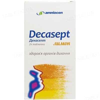 Декасепт лимон таблетки для горла №24