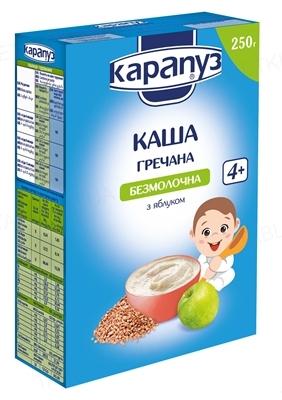 Сухая безмолочная каша Карапуз Гречневая с яблоком, 250 г