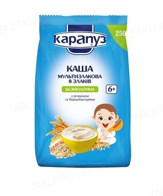 Сухая безмолочная каша Карапуз Мультизлаковая 8 злаков с витаминами и бифидобактериями, 250 г