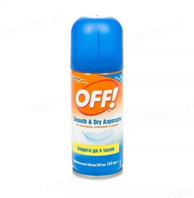 Аэрозоль OFF Smooth&Dry от комаров сух. по 100 мл в упак. аэр.