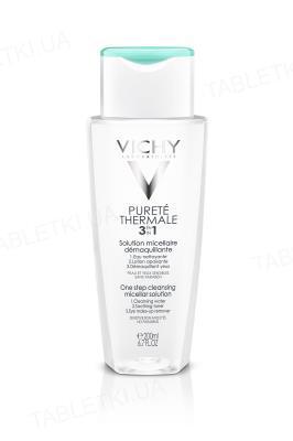 Мицеллярный раствор Vichy Purete Thermale для демакияжа лица и глаз 3 в 1, 200 мл