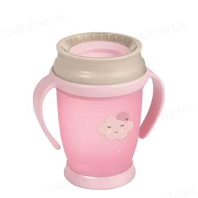 Чашка Lovi 360 Retro Junior, с ручками, для девочки, 1/589new, 250 мл
