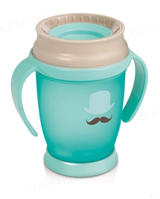 Чашка Lovi 360 Junior-Retro, с ручками, для мальчика, 1/590new, 250 мл