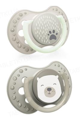 Пустышка силиконовая динамическая Lovi Buddy bear, 22/865, 6-18 месяцев, 2 шт