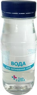 Вода для запивания лекарств San Farma негазированная, 160 мл
