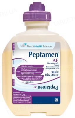 Продукт спеціального харчування Nestle Peptamen Af Neutral Dual рідка суміш на основі гідролізату сироваткового білку з нейтральним смаком, 500 мл