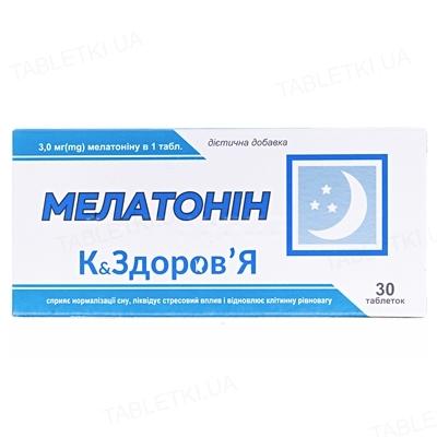 Мелатонин К&Здоровье таблетки по 200 мг №30