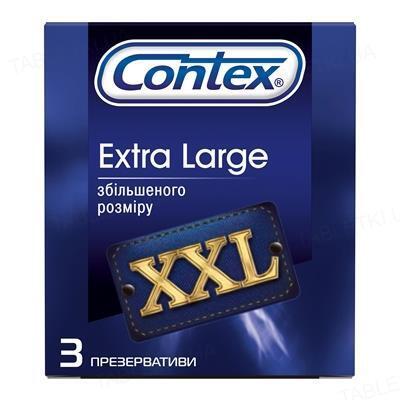 Презервативи латексні Contex Extra Large збільшеного розміру, 3 штуки