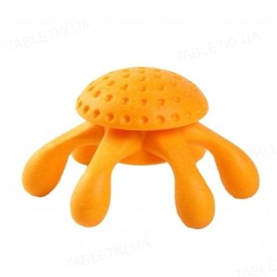 Игрушка для собак Kiwi Walker Octopus Mini Orange, Оранжевый осьминог, термопластичная резина