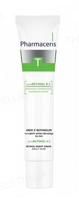 Крем ночной Pharmaceris T Pure Retinol 0.3 с ретинолом для возрастного акне, 40 мл