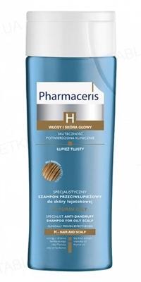 Шампунь Pharmaceris H H-Purin специализированный от перхоти для себорейной кожи, жирная перхоть, 250 мл