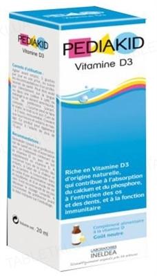 Педиакид PEDIAKID Витамин D3 натуральный капли по 20 мл во флак.