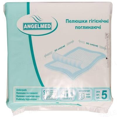 Пеленки гигиенические Angelmed 60 х 60 см, 5 штук
