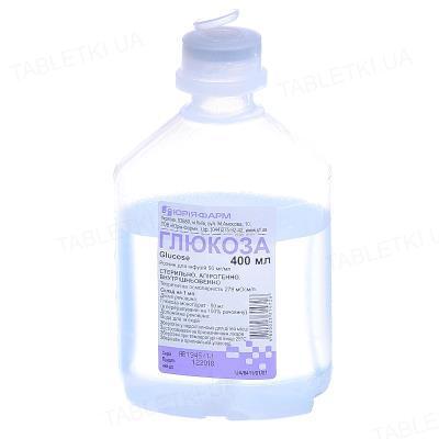 Глюкоза раствор д/инф. 5 % по 400 мл в конт.