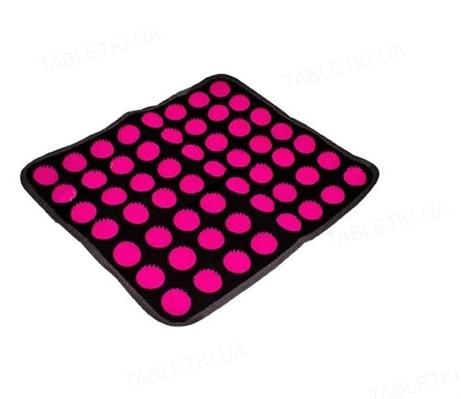 Масажний килимок Ridni Relax RD-ASM493-P, колір чорно-рожевий, розмір 34 x 40 см