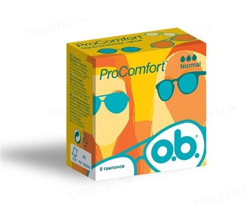 Тампони гігієнічні o.b. ProComfort Normal, 8 штук