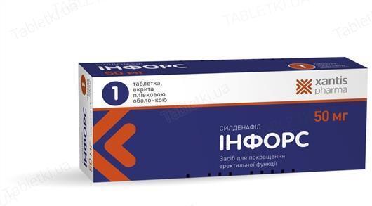 Инфорс таблетки, п/плен. обол. по 50 мг №1 (1х1)