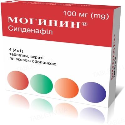 Могинин таблетки, п/плен. обол. по 100 мг №4