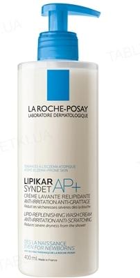 Крем-гель для обличчя і тіла La Roche-Posay Lipikar Syndet AP+ очищующий, для дуже сухої шкіри, 400 мл