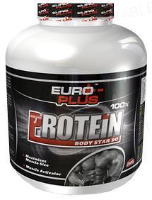 Протеин Euro Plus Body Star 90 для спортсменов, 800 г, банка