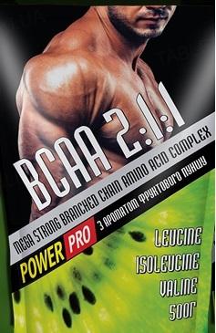 Суміш амінокислотна Power Pro ВСАА 2: 1: 1 з ароматом фруктового пуншу, 500 г