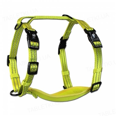 Шлея для собак Alcott Adventure Visibility размер S от 3 до 5 кг, желтый неон