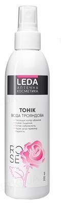 Тоник для лица Leda розовая вода, 200 мл