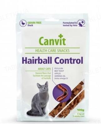 Ласощі для кішок Canvit Hairball Control, 100 г