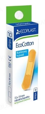 Набор пластырей медицинских Ecoplast EcoCotton (ЭкоКотон) бактерицидных на тканой основе 72 x 19 мм, 10 штук
