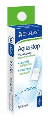 Набор пластырей медицинских Ecoplast Aqua stop mini (Аква стоп мини) бактерицидных, прозрачных 72 х 19 мм, 8 штук