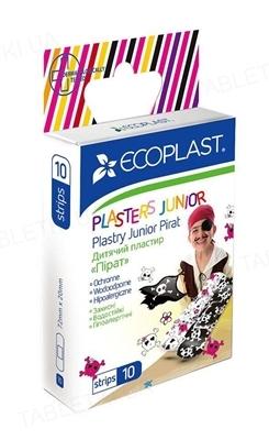 Набор пластырей медицинских Ecoplast Пират бактерицидных детских, на полимерной основе, 10 штук