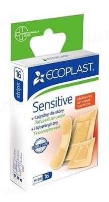 Набор пластырей медицинских Ecoplast Sensitive (Нежные) на нетканой основе, 16 штук
