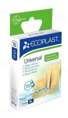 Набор пластырей медицинских Ecoplast Universal (Универсальные) бактерицидных на полимерной основе, 16 штук