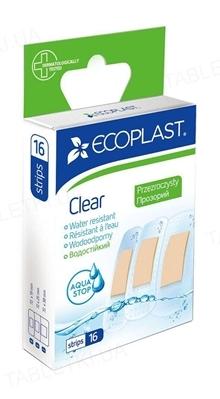 Набор пластырей медицинских Ecoplast Clear (Прозрачные) на полимерной основе, 16 штук