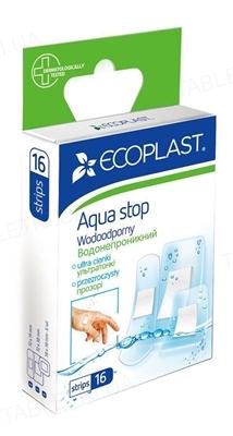 Набор пластырей медицинских Ecoplast Aqua stop (Аква стоп) водонепроницаемых, 16 штук