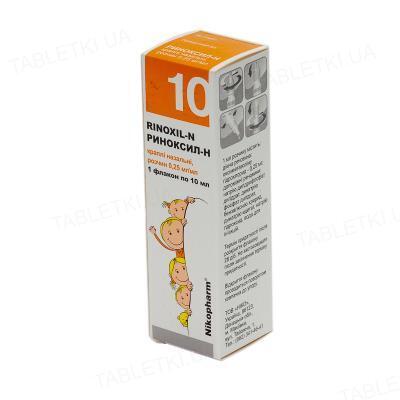 Риноксил-Н капли наз., р-р, 0.25 мг/мл по 10 мл во флак.