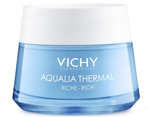 Крем Vichy Aqualia Thermal насыщенный для глубокого увлажнения сухой и очень сухой кожи, 50 мл
