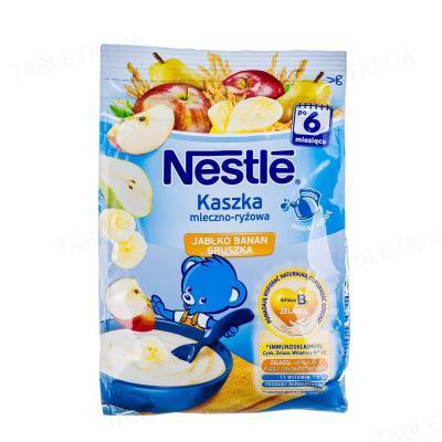 Молочная каша Nestle рисовая с бананом, яблоком и грушей, 230 г