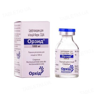 Орзид порошок для р-ра д/ин. по 1000 мг №1 во флак.