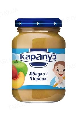 Фруктовое пюре Карапуз Яблоко и персик, 200 г