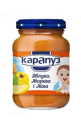 Фруктово-овощное пюре Карапуз Яблоко, морковь и айва, 200 г