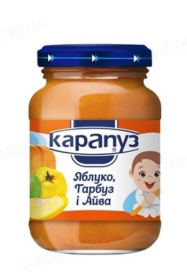 Фруктово-овощное пюре Карапуз Яблоко, тыква и айва, 200 г