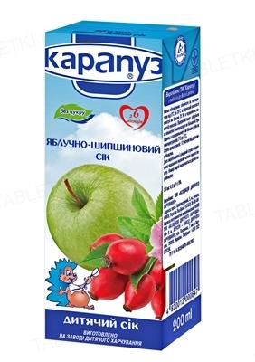 Сок Карапуз Яблочно-шиповниковый, без сахара, 200 мл