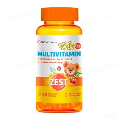 Зест Кидс Мультивитамин пастилки жевательные №30