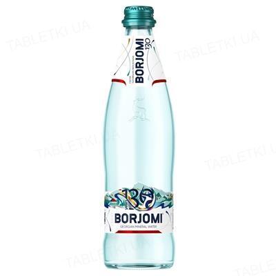 Вода мінеральна Borjomi газована, скляна пляшка, 0,5 л