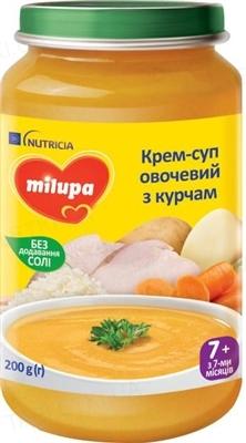 Крем-суп Milupa Milupa Овощной с цыпленком для детей от 7 месяцев, 200 г