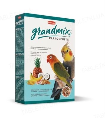 Корм для средних попугаев Padovan GrandMix Parrocchetti , 400 г