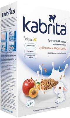 Молочная каша Kabrita гречневая с яблоком и абрикосом, для детей от 5 месяцев, 180 г