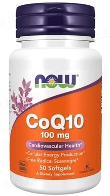 Коэнзим Q10 NOW CoQ10 100 мг мягкие капсулы №50